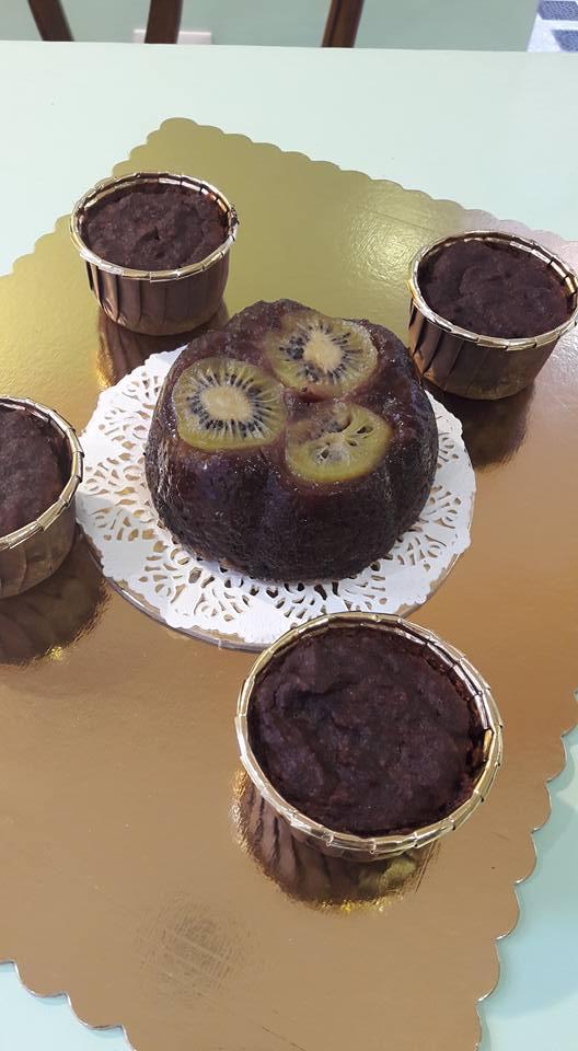Torta al cioccolato con Kiwi, Tortine di cioccolato