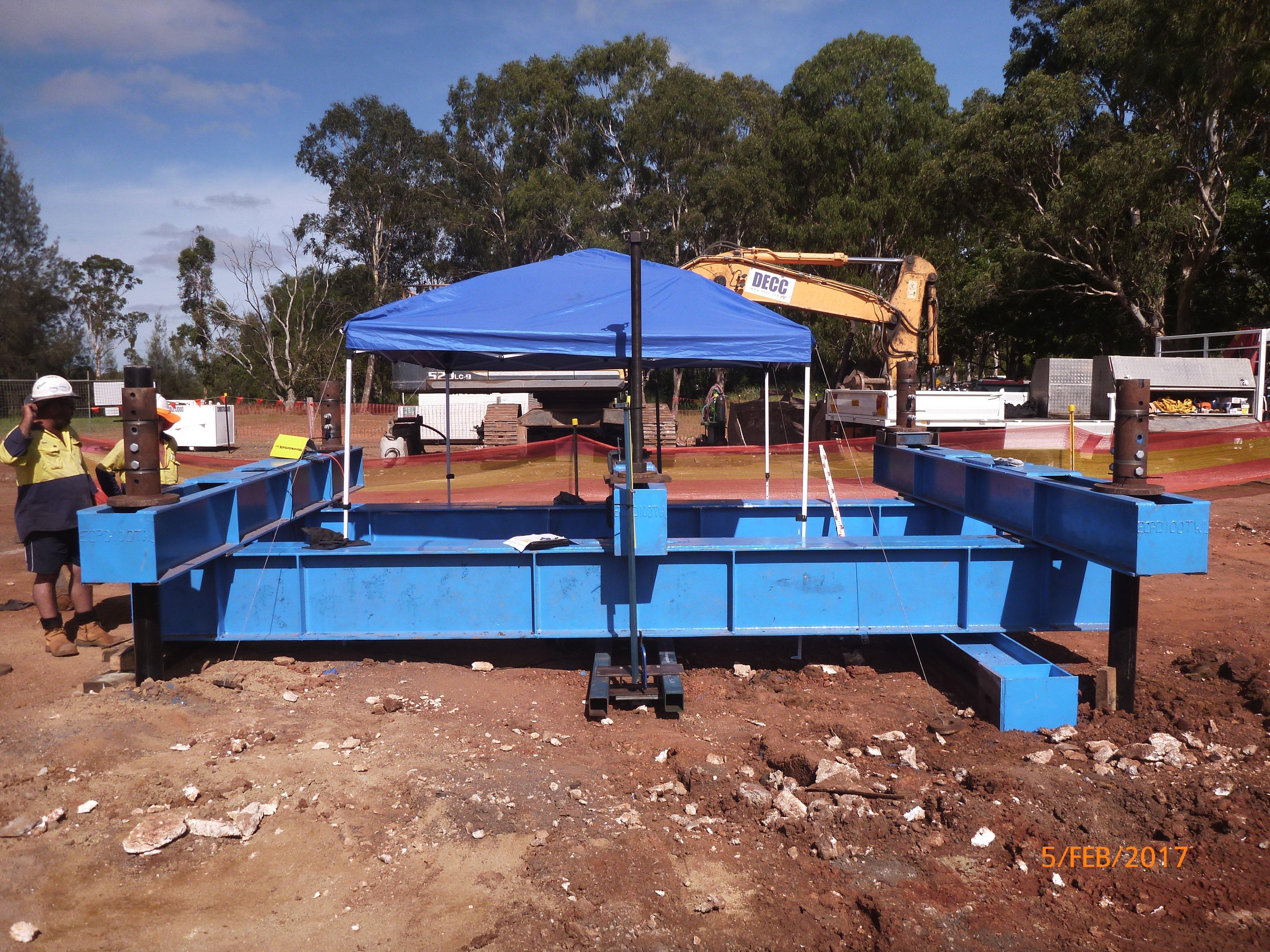 Static Pile Load Testing Setup