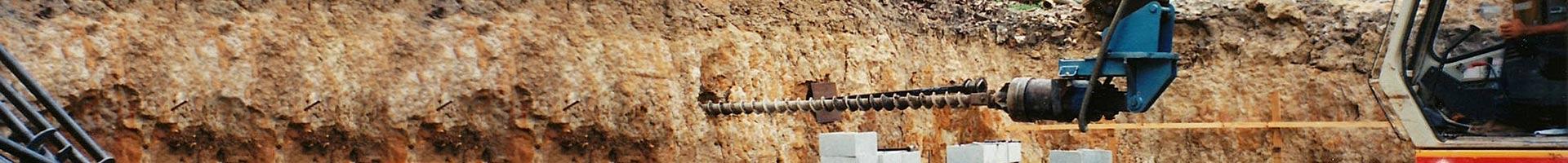 ground anchoring drill header