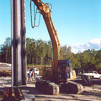 steel pile vertical