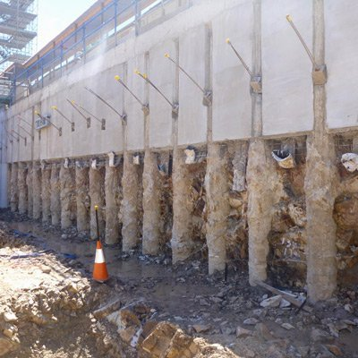 Contiguous Pile Walls South East Queensland East Coast