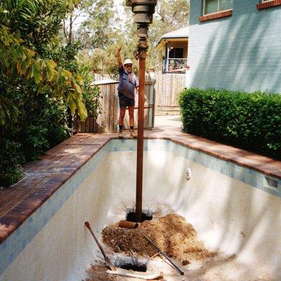 underpinning pool