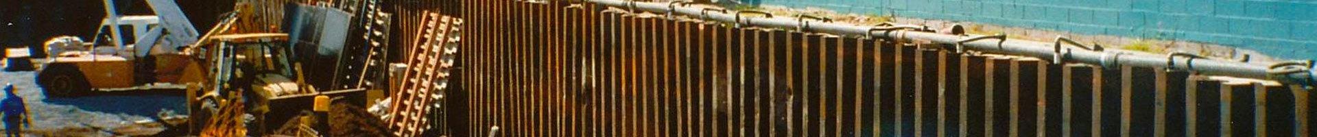 steel piles header