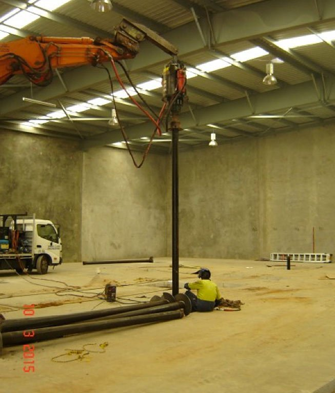 Indoor Screw Piling