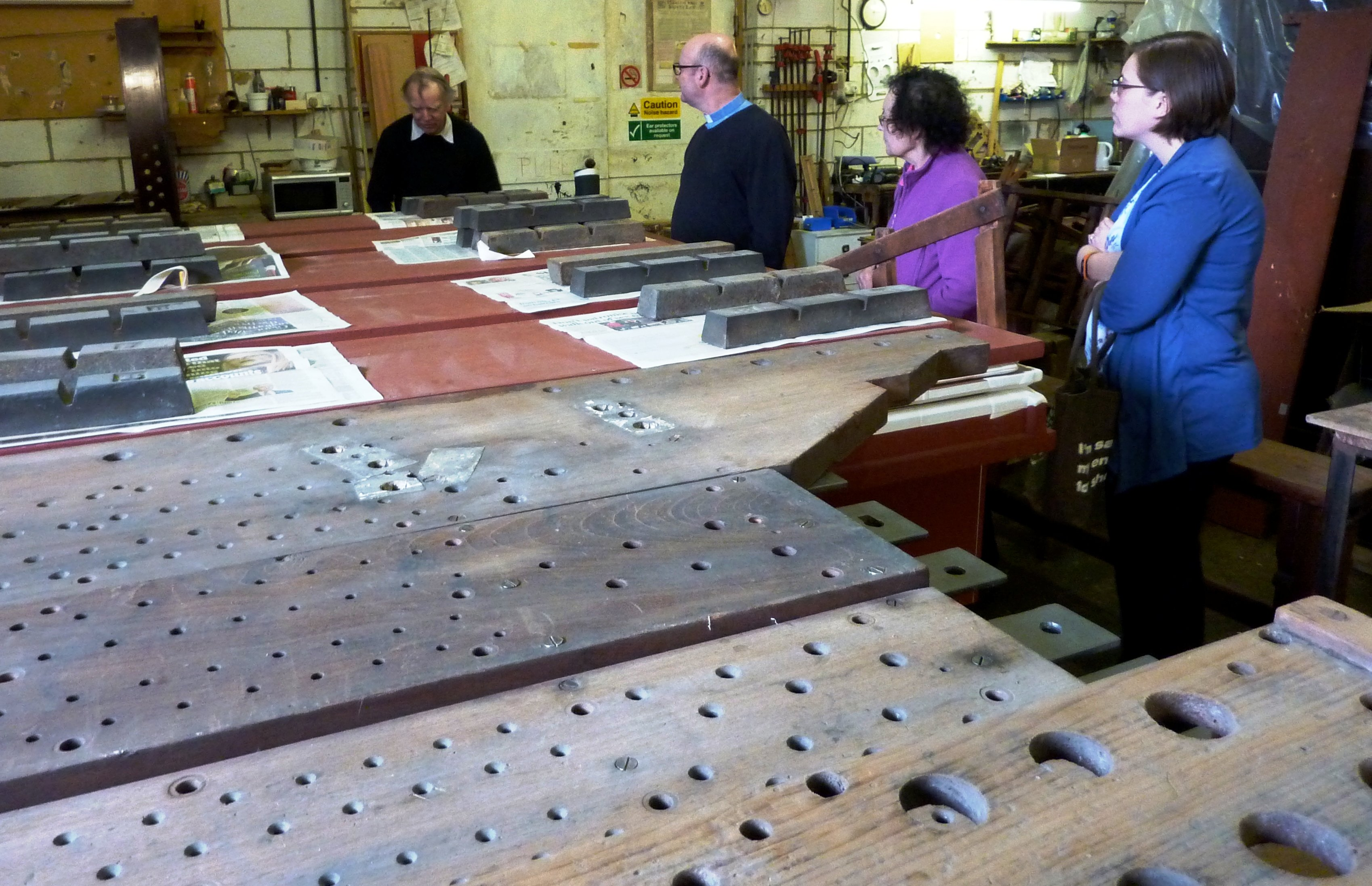 Workshop visit bellows - with people