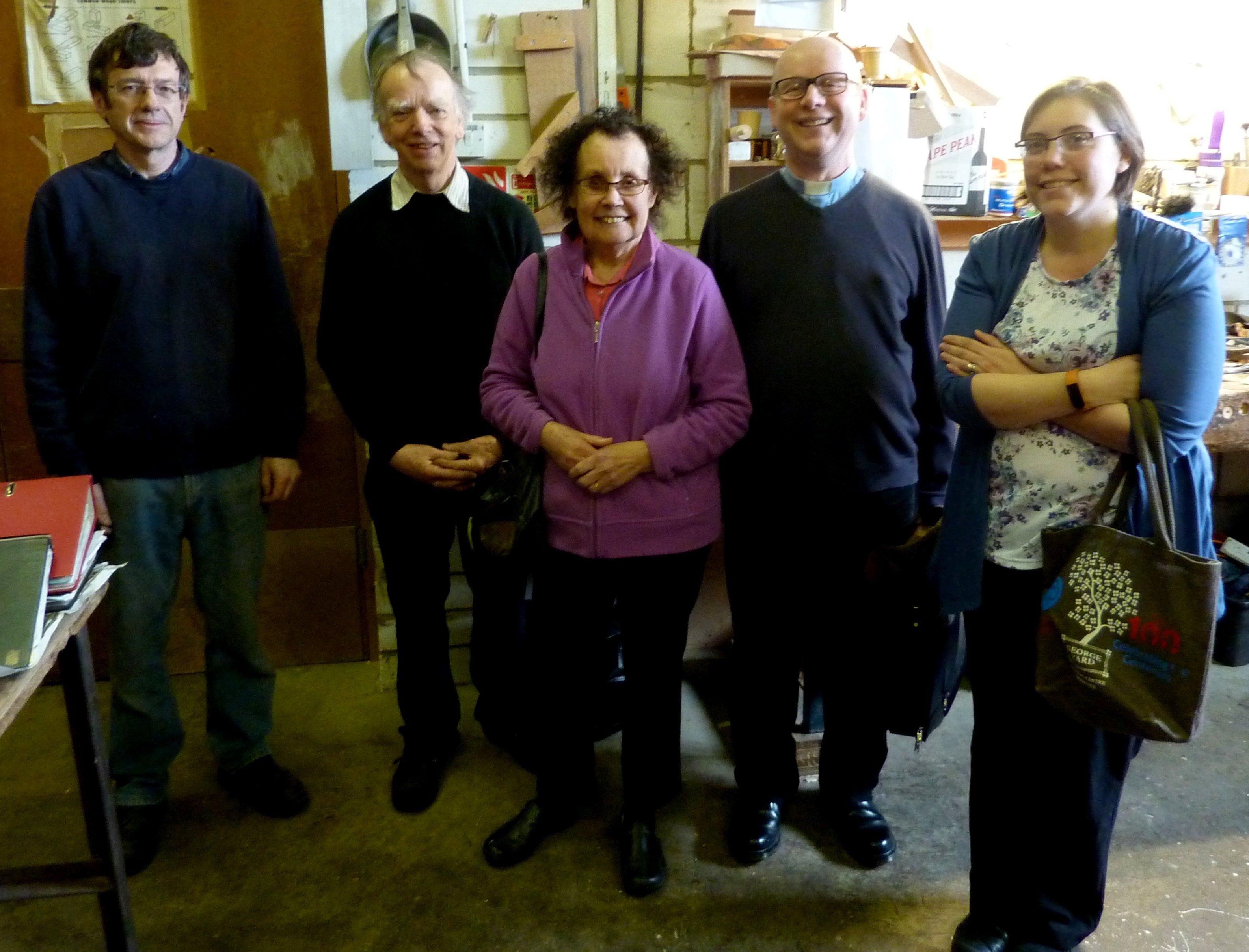 Workshop visit group picture