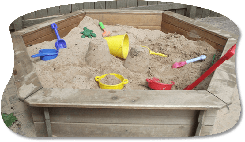 sand and buckets