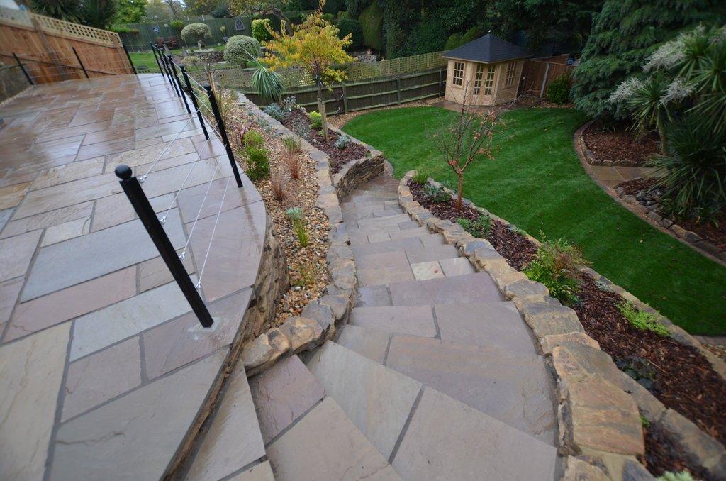 garden tiling