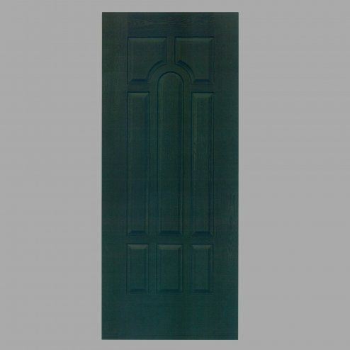 Porta verde con design in rilievo
