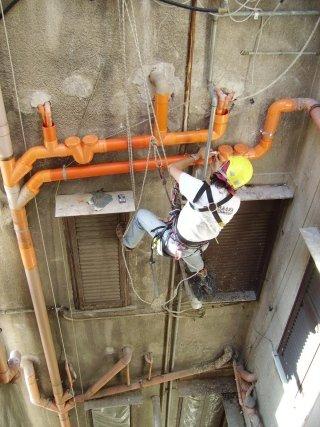 manutenzione riparazione colonne di scarico