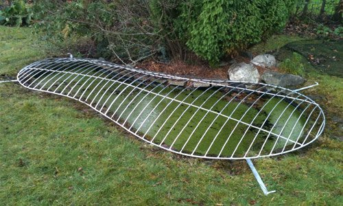 Metal pond covers available at metalcrafts for Decorative fish pond covers