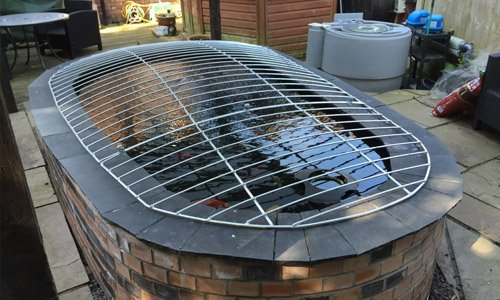 Metal pond covers available at metalcrafts for Garden pond safety covers