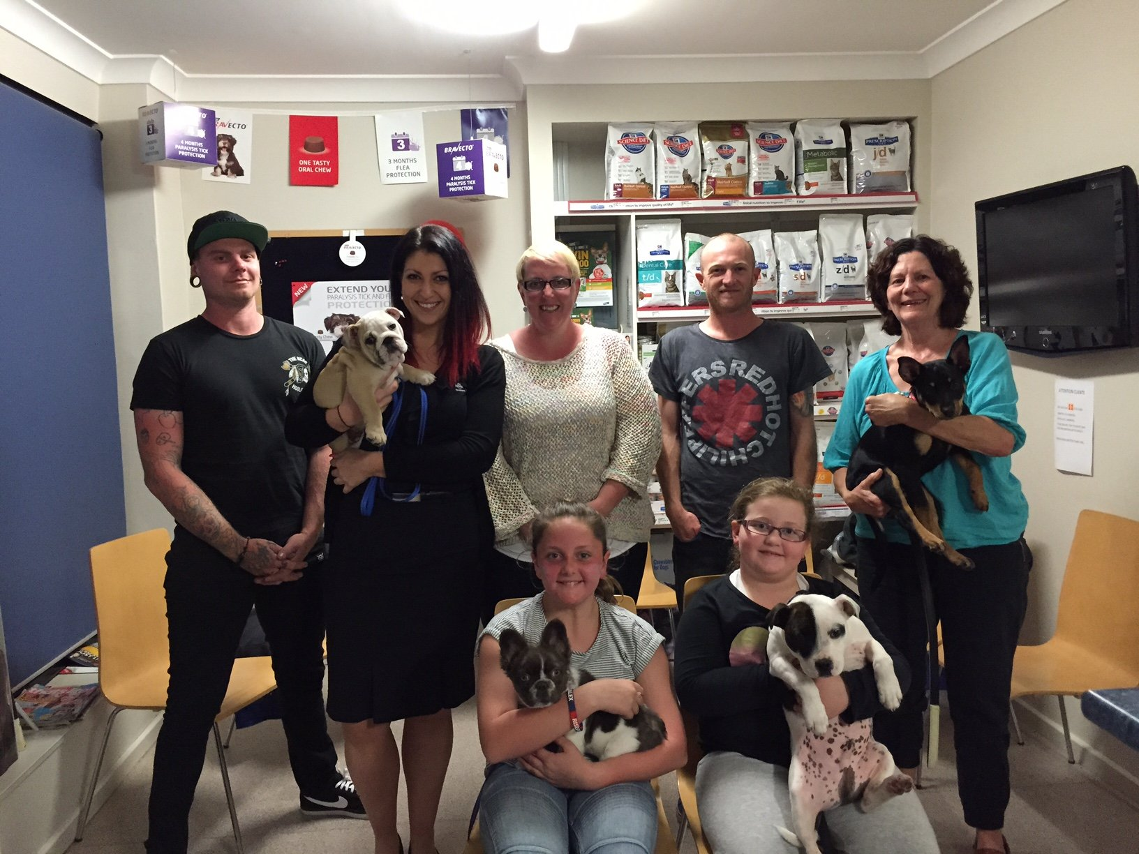Dogs and owners at our puppy pre-school in Newcastle
