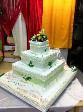 torta nuziale quadrata