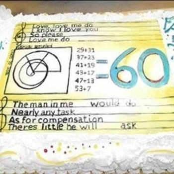torta personalizzata sessanta anni