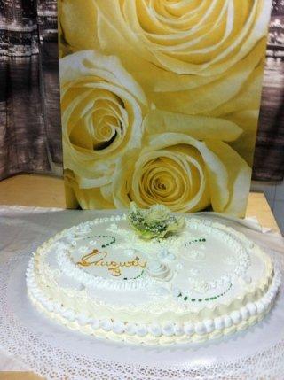 torta di compleanno elegante