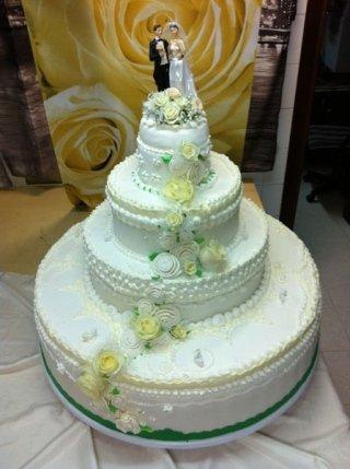 torta nuziale tonda