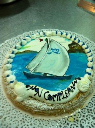torta di compleanno barca