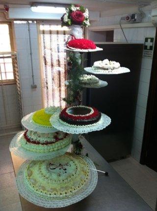 torta nuziale a piani separati