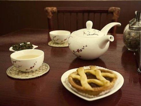 un tè giapponese con crostata