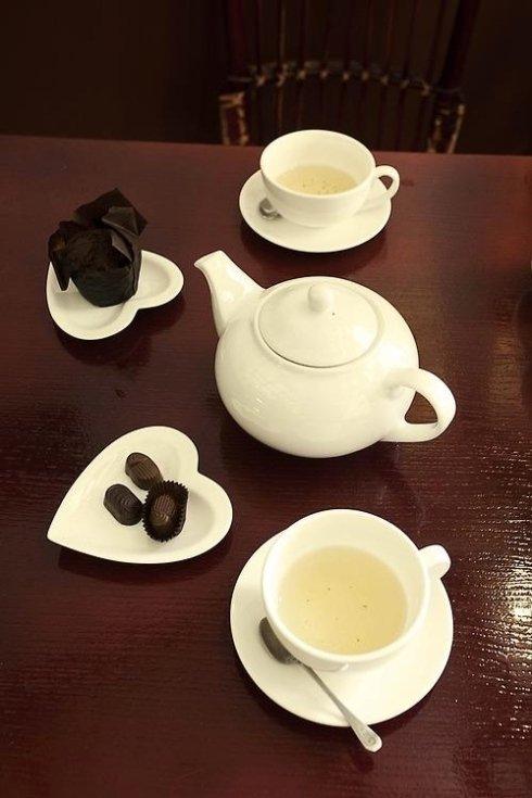 una tazza di tè in stile british