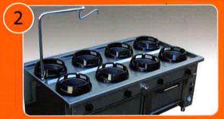 Bruciatori professionali per cucina orientale