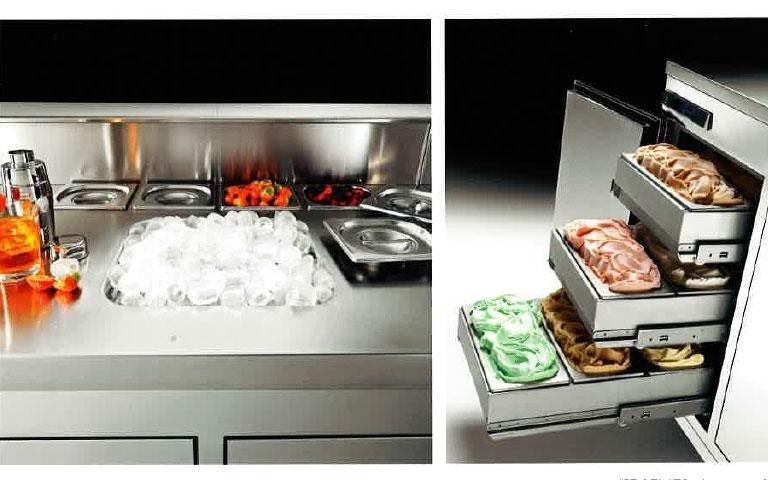 Vasche ghiaccio e cassettiere per gelato
