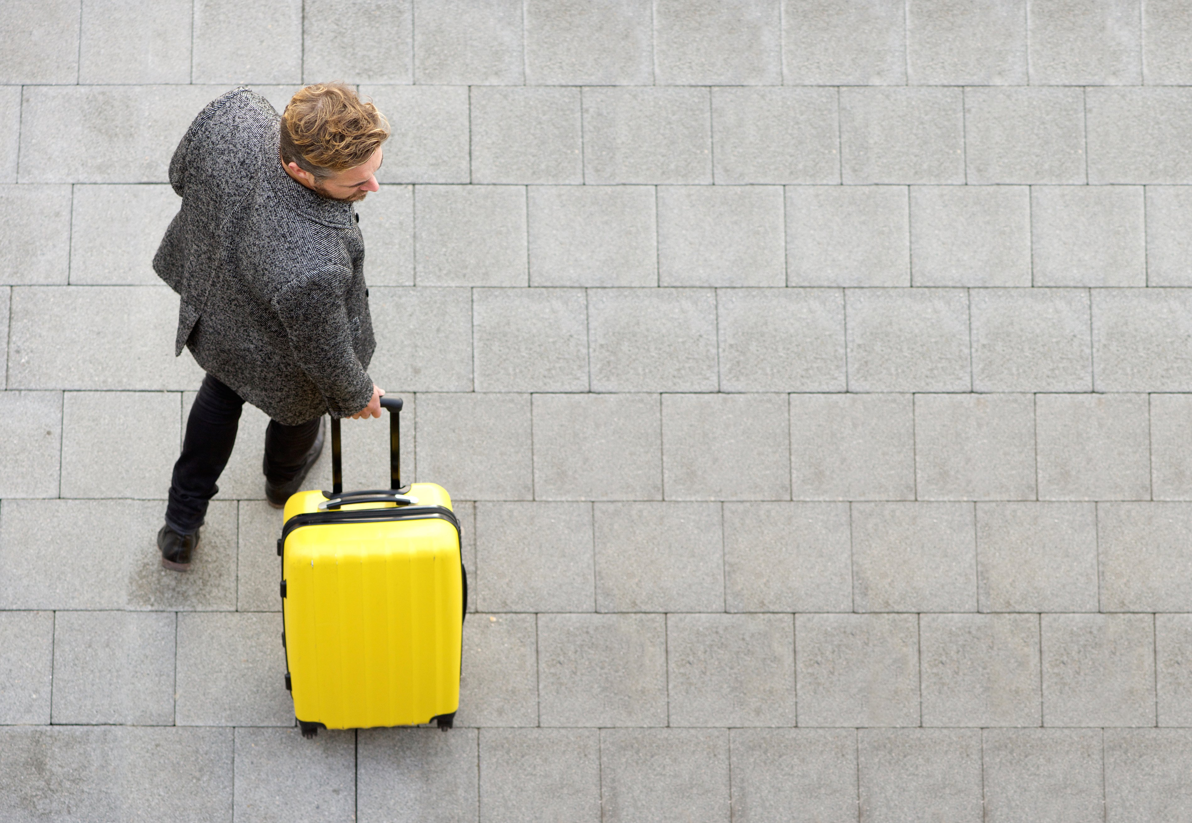 Tourist with luggage