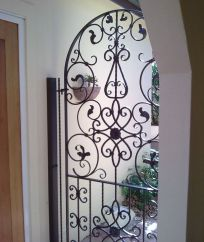 Garage security decorative gate