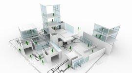 imbiancatura edifici nuovi, colore su richiesta, attestato manovrabilità piattaforme aeree