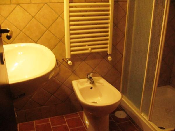Bagno con servizi, doccia e termosifone di colore bianco