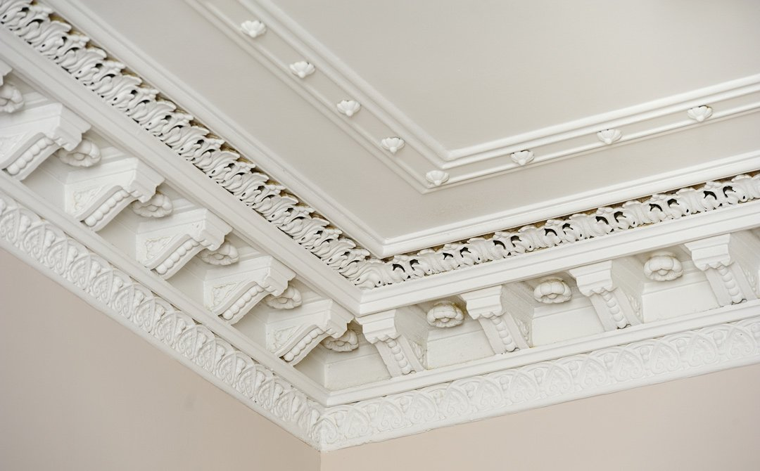 corner ceiling plaster decoration