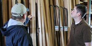 Two men at lumbers