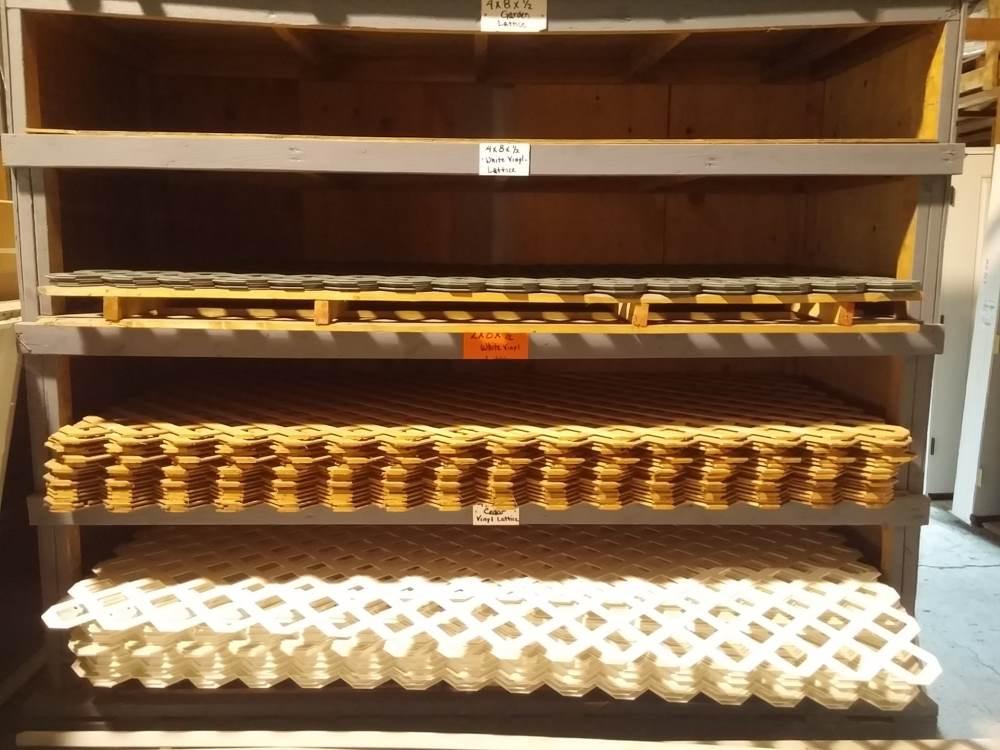 Window materials in racks