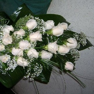 bouquet rose avorio