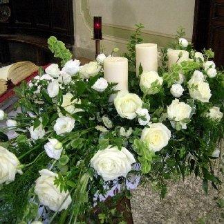 composizione fiori candele