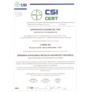 Avvolgibili certificato