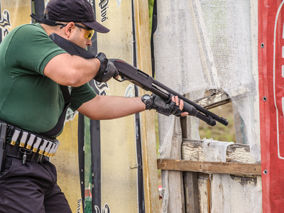 Man taking the Shotgun Deployment Class