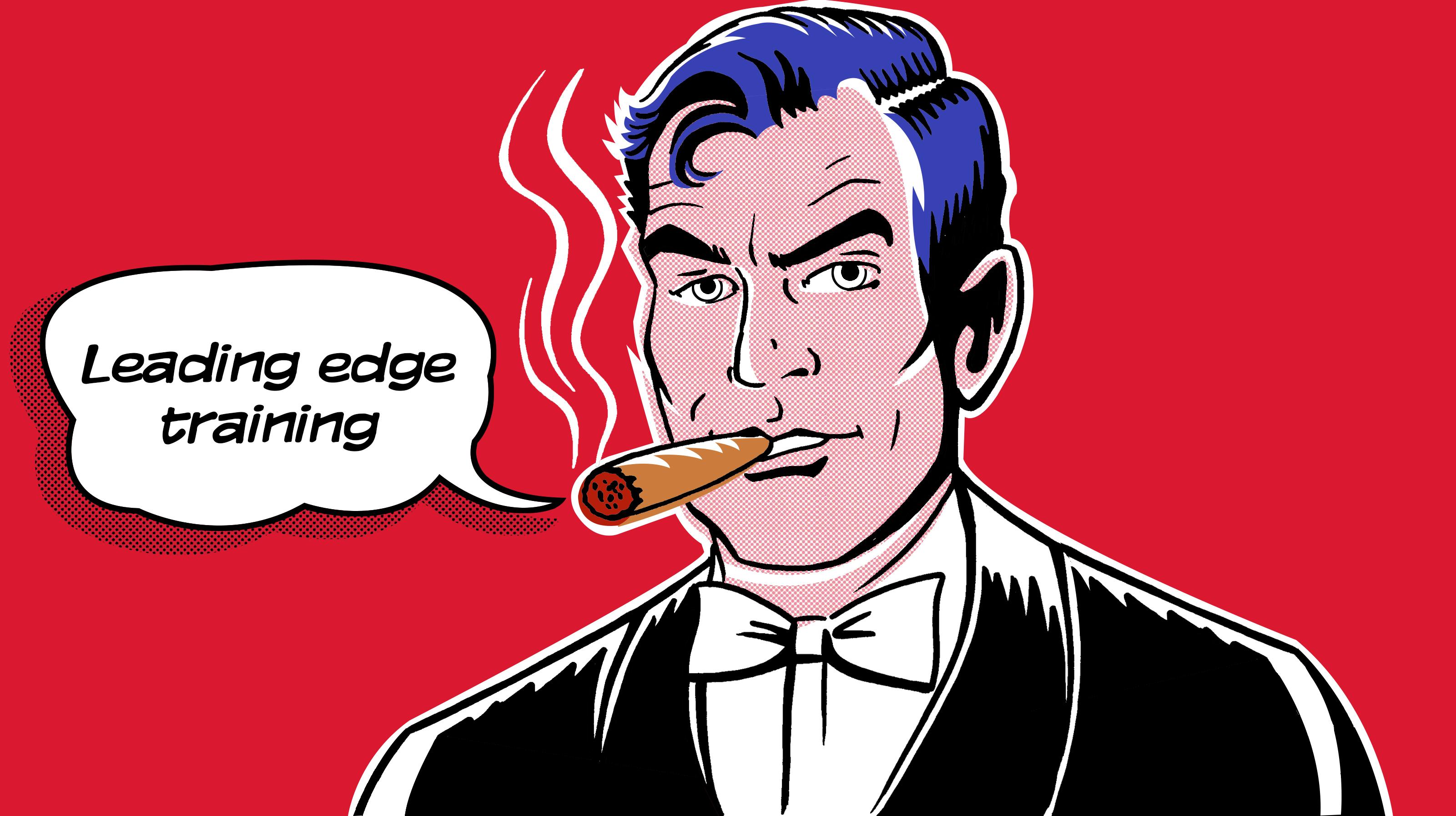 Individual smoking cigar