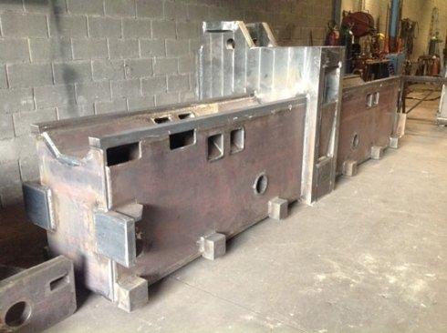 Elementi in ferro per macchine industriali