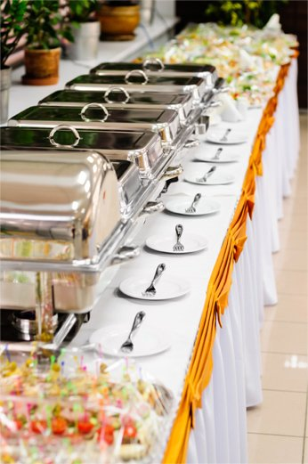 Wedding catering buffets