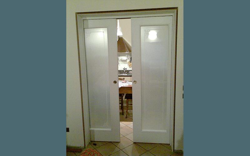 porte nobilitato e legno