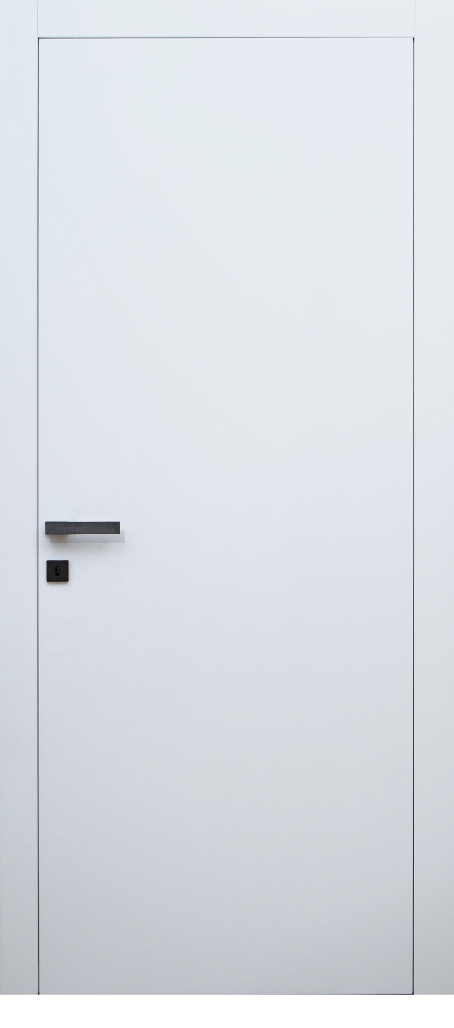 porta bianca con maniglia d'acciaio