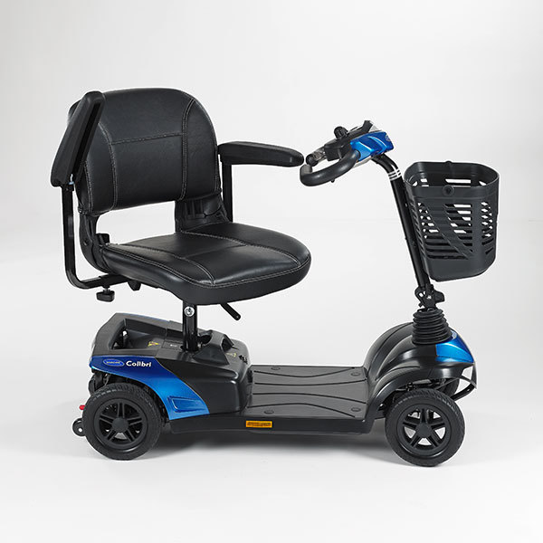 Black and blue scooter