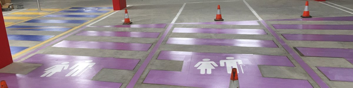 A picture of some of our line marking in Corio