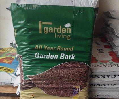 A sack of garden bark