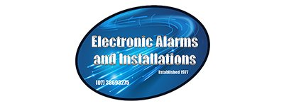 electronic alarms installations business logo