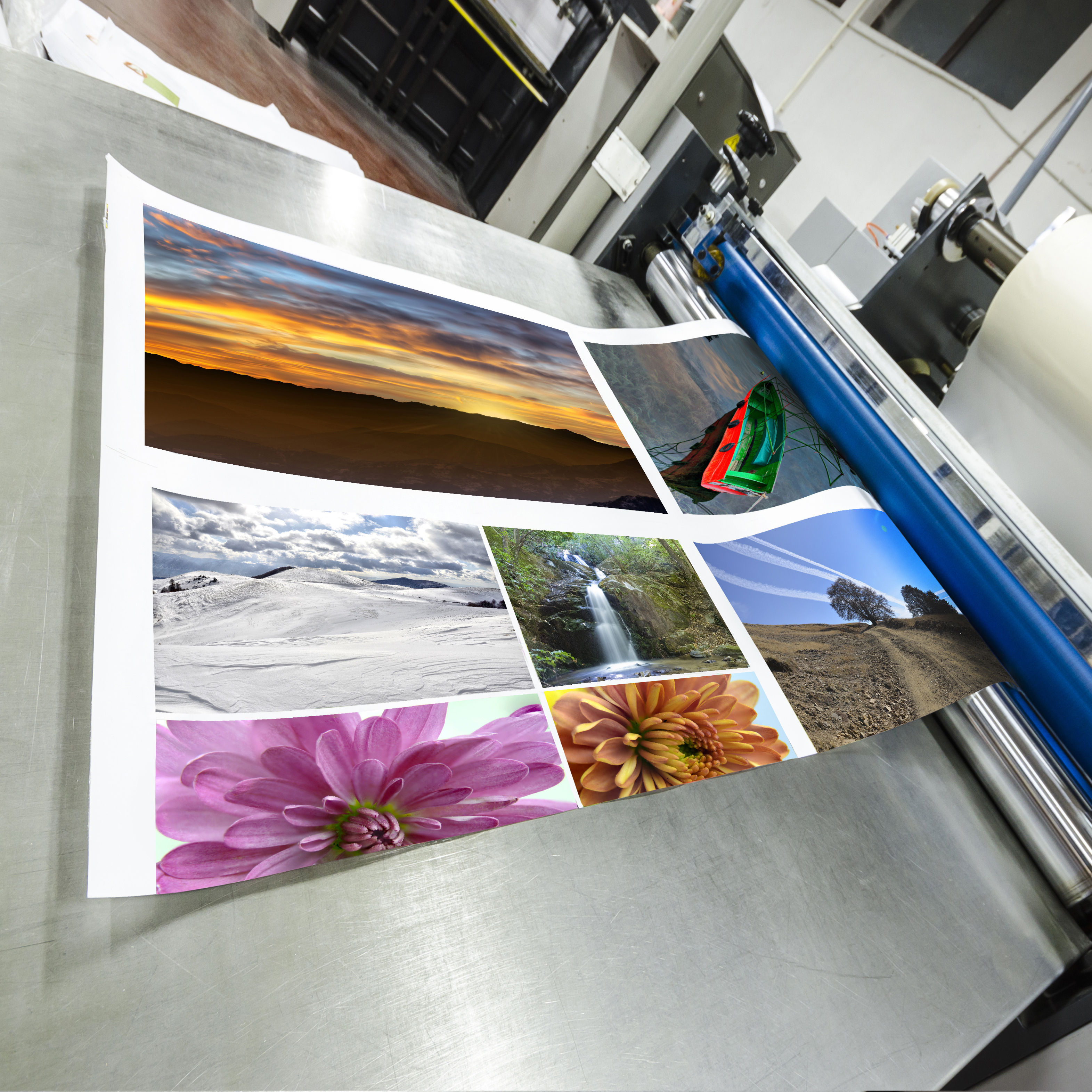 Poster being printed Conner Instant Printing Inc