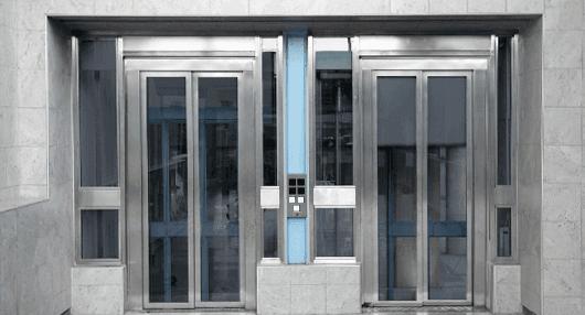 glass lift door