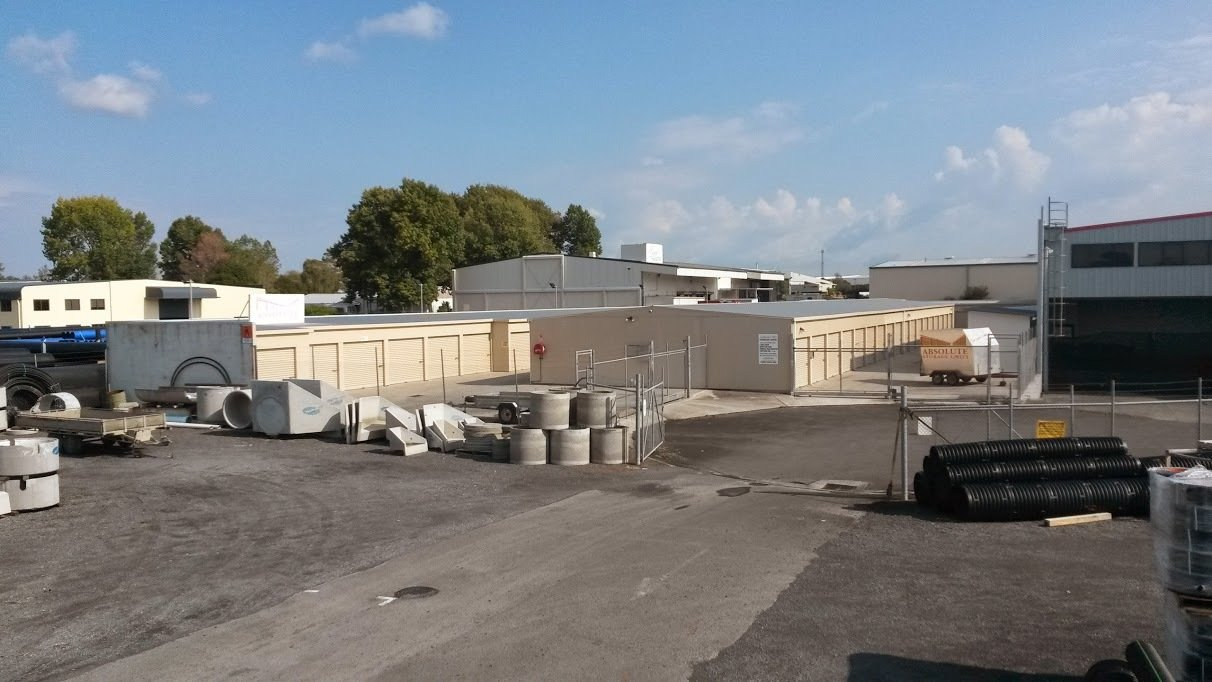 View of the storage units